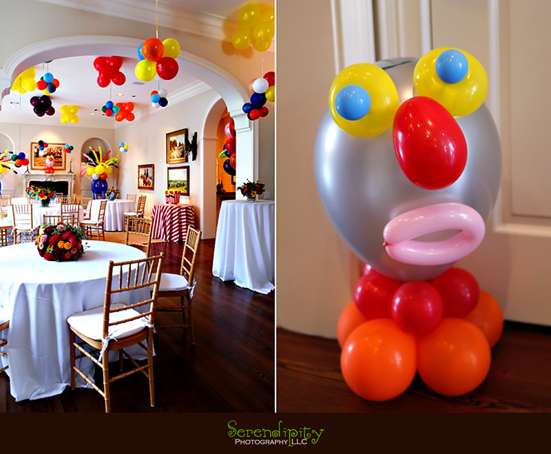 River Oaks Photography Children Birthday Party Indoor Balloon Decorations