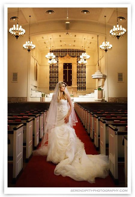 Bridal Portraits at St Luke's United Methodist Church - Anne