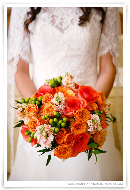 Peach and Orange wedding colors, Wedding in Houston, La Colombe d