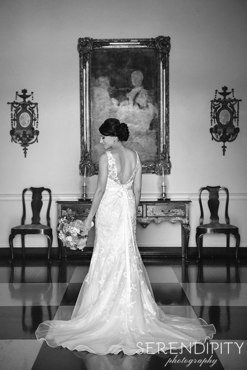 Bridal Session at Houston Country Club, Bridal Portrait, black and white