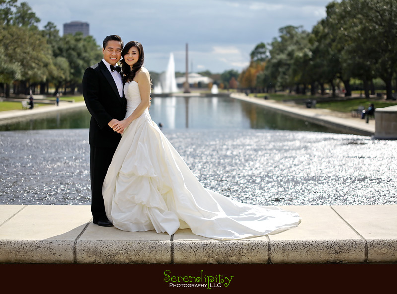 Hermann Park Houston Formal Engagement Session Photography